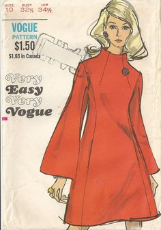 Funnel neck dress - Vogue vintage sewing pattern
