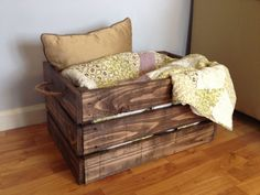 Love the dark walnut finish on our Rustic Reclaimed Pallet Wood Crate! Check it out at dunnrusticdesigns.etsy.com
