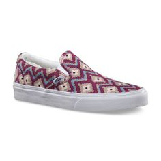 @Vans Geometric #Classic Slip-On Shoes making a come back!