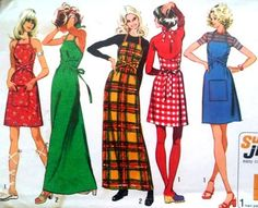 Vintage 1970s Halter Wrap Dress Bust 3436 Simplicity by linbot1, $10.00