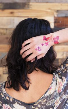 Coral Butterflies designed by Stina Persson for Tattly temporary tattoos.
