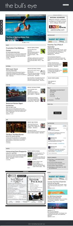 Using just the Home Top Wide Area and the Home Top Right Area sets up a clean two column display. Also check out the ad placement - perfect spot for a bigger ad.