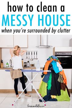 5 Helpful tips for cleaning a messy house when you're completely surrounded by clutter Deep Cleaning Tips, House Cleaning Tips, Cleaning Solutions, Spring Cleaning, Cleaning Hacks, Diy Hacks, Cleaning Schedules, Weekly Cleaning, Cleaning Checklist