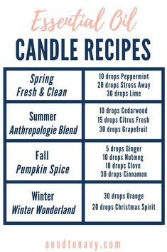 Diy Marble, Velas Diy, Homemade Scented Candles, Diy Candles Recipe, How To Make Scented Candles At Home, Diy Candles Easy, Diy Candles Without Wax, Diy Candle Ideas, Essential Oil Blends