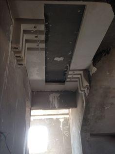 Flat entrance Plaster Ceiling Design, Pop Ceiling Design, Ceiling Design Living Room, Room Door Design, Gate Design, Living Room Designs, Plafond Design, Small Space Design, Lobby Design