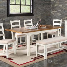 Have to have it. Emerald Home Oak Top Dining Table with Butterfly Leaf - $499.99 @hayneedle