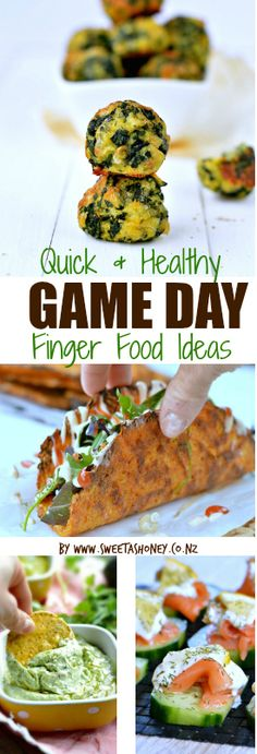 A list of 41 Quick, Easy & Healthy Game Day Finger Food Ideas because game day for the worldcup could be fun & healthy. #healthyfood #gameday #partyfood #party #rugby #allblacks #worldcup