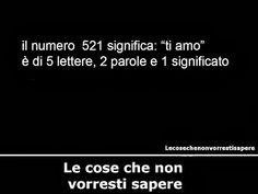 """NUMERO 521 SIGNIFICA """"TI AMO"""" 5 LETTRE 2 PAROLE 1 SIGNIFICATO"""