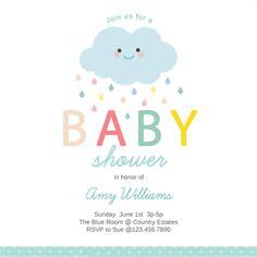 Shower Cloud - Free Printable Baby Shower Invitation Template | Greetings Island