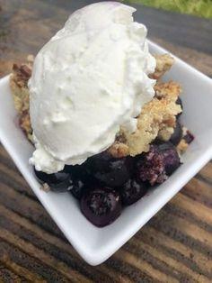 Blueberry Crisp {low carb/Keto}   HEALTH WITH JESSICA