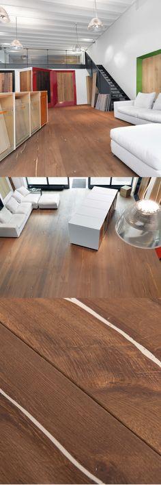 Magic OAK Vulcano white hand-planed, natural oil I mafi Stores I natural wood floors I mafi.com Natural Wood Flooring, Natural Oil, Wood Stamp, Real Wood, Plank, Floors, Coral, Retail, Magic