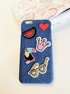 IPhone 6 Plus Case/Denim Patches/Patched Case/Fashion Case iPhone 6plus/Hard Case/Handcrafted/Exclusive by LADenimHandcrafts on Etsy https://www.etsy.com/listing/507370950/iphone-6-plus-casedenim-patchespatched