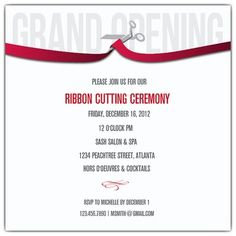 opening ceremony invitation template