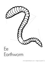 science earthworms coloring pages | earthworm activity sheets | Earthworm Labeling Worksheet ...