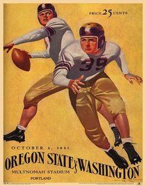 Oregon State vs Washington 41 Vintage Football Poster