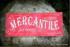 Mercantile sign