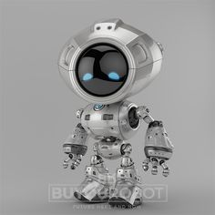 Unique robot III. Robotic creature 3d render.