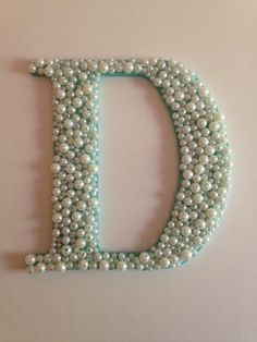 ONE Pearl Monogram Letter Sorority Big Little Wall Art Painted Handmade on Etsy, $13.00