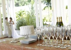 Angels Atrium wedding location in Jamaica. Celebrate your love with this chic romantic package designed by renowned wedding planner Karen Bussen
