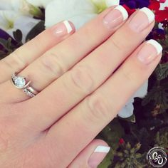 The Perfect DIY French Tips Tutorial! I almost always have french nails-bailey Bride Nails, Wedding Nails For Bride, Prom Nails, French Nails, Natural French Manicure, French Manicure Designs, Nail Designs, Cute Nails, Pretty Nails