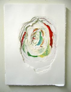 Pulsate #1, by Andrea Myers  2007  ink on layered paper,glued together and torn into by hand