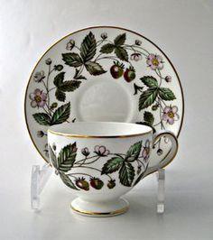 Wedgwood Strawberry Hills Footed Cup and Saucer