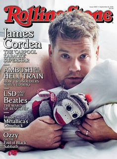 James Corden is captured in bed as The Late Late Show host covers the most recent issue of Rolling Stone. Photographed by Mark Seliger, Corden charms in a… Dont Fall In Love, People Fall In Love, Falling In Love, Rolling Stone Magazine Cover, Rolling Stone Magazine Subscription, Now Magazine, Magazine Covers, Rolling Stones Music, Ozzy Osbourne