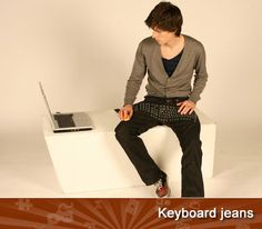 If lugging around a keyboard seems like a pain, you might consider trying these pants on for size. These jeans include not only a keyboard, but a wireless mouse and speakers as well, letting you sit wherever you want and still be firmly in charge of your computing experience. Heck, you can even keep typing when you get up to grab something to drink – if you're dexterous.