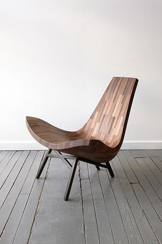 """""""Water Tower Chair"""" - """"a collaborative wood shop based in Brooklyn, created a lounge chair of a NYC Water Tower"""""""