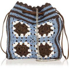 MIU MIU Woven Raffia Bucket Bag ($285) ❤ liked on Polyvore featuring bags, handbags, shoulder bags, blue, braided purse, shoulder bag purse, bucket shoulder bag, blue purse and blue handbags
