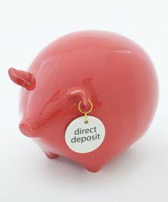 Direct Deposit Piggy Bank