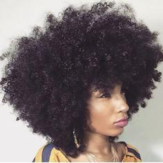 Beautifully shaped Afro