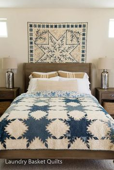 Blue quilts by Edyta of Laundry Basket Quilts