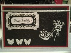 Cards for her - Tattered Lace Shoe