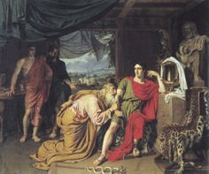 Priam Begging the Body of Hector from Achilles, Alexander Ivanov, 1824