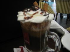 coffee cocktail with cream