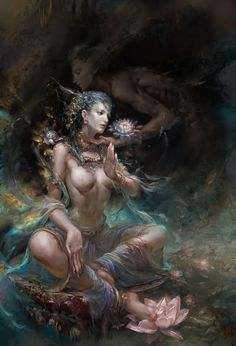 """""""She is the divine love which moves the universe, She is the original impulse within your own heart, She is the one manifesting in all life as erotic attraction. She is the One """"pervading unlimited space, yet fully manifest in every atom"""" - Chameli Ardagh"""