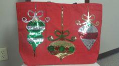 Christmas Tote Mudpie Christmas, Mud Pie, Four Square, Christmas Ornaments, Holiday Decor, Home Decor, Xmas Ornaments, Homemade Home Decor, Decoration Home