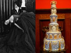 Marilyn Manson and Dita Von Teese's wedding cake in 2005
