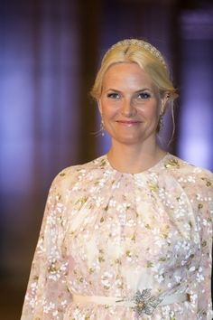 Crown Princess Mette-Marit wore this tiara for Queen Beatrix of the Netherlands' farewell dinner on April 29, 2013.