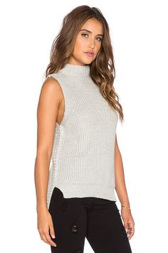 Shop for Bishop + Young Gemma Mock Neck Sleeveless Sweater in Grey at REVOLVE. Free day shipping and returns, 30 day price match guarantee. Sleeveless Tunic, Revolve Clothing, Mock Neck, Grey, Sweaters, Shopping, Tops, Women, Fashion