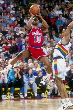 Michael Adams, who played for the Washington Bullets from 1986 to 1987  and 1991 to 1994.