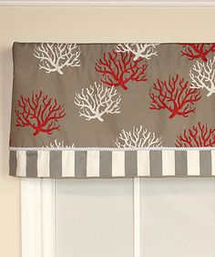 Look at this Red Sea Flora Straight Band Valance Panel on #zulily today!