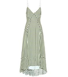 Shop Checked georgette midi dress presented at one of the world's leading online stores for luxury fashion. Beachwear For Women, Little Dresses, New Wardrobe, Proenza Schouler, Designer Dresses, Fashion Online, Cool Outfits, Luxury Fashion, Clothes