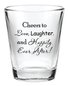 144 Personalized 1.5oz Wedding Favor Glass Shot by Factory21, $161.24 (Cute idea--not sure how much you're looking to spend on favors but this seller has a lot of options on Etsy for personalized shot glasses)