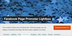 Facebook Page Promoter Lightbox - Turn website visitors into Facebook fans. With this plugin you can display a Facebook Fan Page-Like Box inside a lightbox (overlay).  https://wordpress.org/plugins/facebook-page-promoter-lightbox/screenshots/