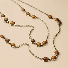 Tiger's Eye Double Strand necklace from Fossil.