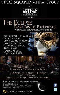 The Eclipse Dark Dining Experience at The Artisan | 1501 W Sahara Ave | Las Vegas, NV
