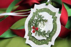 use spellbinders sets to create the tags handmade Christmas tag Christmas Paper Crafts, Christmas Gift Tags, Xmas Cards, Christmas Projects, Handmade Christmas, Christmas Christmas, Christmas Tables, Nordic Christmas, Modern Christmas