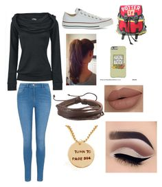 """Untitled #87"" by olivia-huffer on Polyvore featuring George, Converse, Zodaca and Disney"